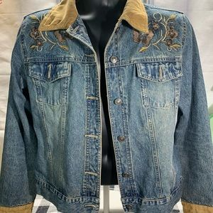 Faded Glory jacket embroidered yolk T 1262